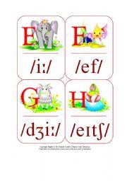 My Phonetic Animal Alphabet Flash cards 6/7