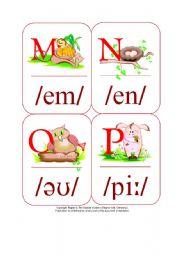 English Worksheet: My Phonetic Animal Alphabet Flash cards 4/7