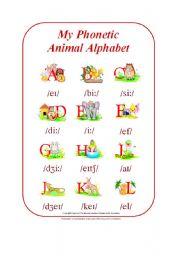 English Worksheet: My Phonetic Animal Alphabet Part 1/2 (by blunderbuster)