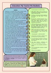 English Worksheets: Reading and speaking about EDUCATION