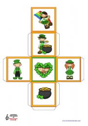 English Worksheet: St. Patrick´s Day  (6)  - 2 Dice