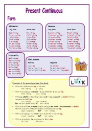 English Worksheet: Present Continuous Tense (1)