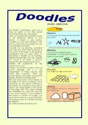 English Worksheets: doodles