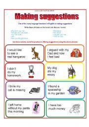 English worksheet: Conversation Cards