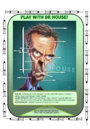 English Worksheet: Physical description Dr House