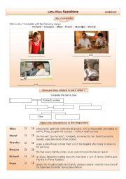 English Worksheets: Little Miss Sunshine worksheet
