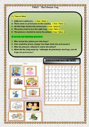 English Worksheets: the frog princess