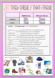 English Worksheets: THIS THESE THAT THOSE