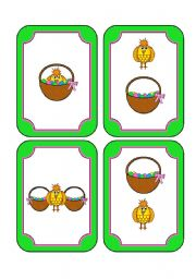Easter Prepositions Memory Cards with Matching Die and Worksheet (includes 16 cards with 8 images in all, an 8 sided die and a worksheet with 8 questions)