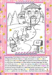 English Worksheet: Easter bunny and friends