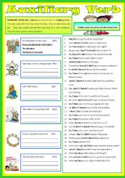 English Worksheets: Auxiliary Verb - Do / Does / Did  (B/W)