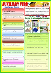 English Worksheets: Auxiliary Verb - (B/W)