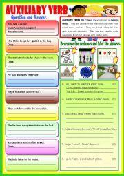 English Worksheet: Auxiliary Verb - (B/W)