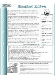 English Worksheets: Urban legends: Buried alive