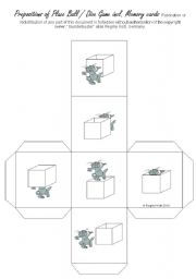 English Worksheet: Prepositions of Place (EASY) Dice Game incl. Memory Game (by blunderbuster)