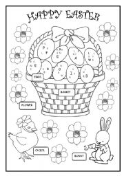 EASTER COLOURING - ESL worksheet by martinasvabova