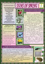 English Worksheets: Signs of Spring