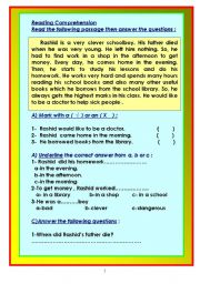 English Worksheets: Reading comprehension tests. 10 tests according to UAE (MOE) criteria.