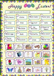 English Worksheets: Easter set 1 - matching exercise