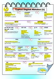 English Worksheets: Typical English Mistakes (2)