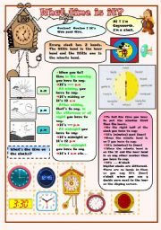 English Worksheets: time