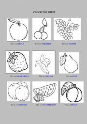 English Worksheets: Coloring