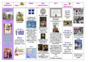 English worksheet: special days : step 17 - Independence Day  and the Annunciation of the Theotokos - Greece