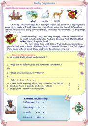 English Worksheets: Sindbad and the sailors.