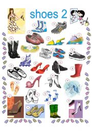 English Worksheet: SHOES 2, 2 PAGES, INCLUDED KEYS