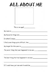 Worksheets All About Me Printable Worksheet english teaching worksheets all about me me