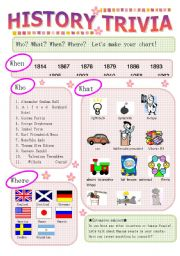 English Worksheets: Histroy trivia