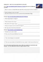 English Worksheets: webquest icelandic volcano