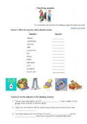 English Worksheets: Describing products