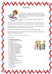 English Worksheets: Reading Comprehension Bob