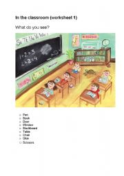 In the classroom worksheets