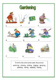 English teaching worksheets: The garden