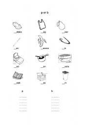 English Worksheets: P or B