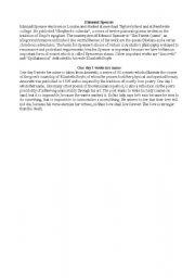 English Worksheets: Edmund Spencer
