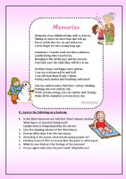 English Worksheets: Memories