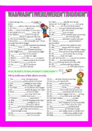 English Worksheet: WAS/WASN´T/WERE/WEREN´T/DID/DIDN´T