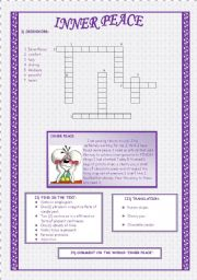 English Worksheets: INNER PEACE