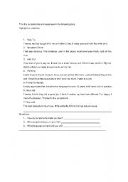 English Worksheets: compliments