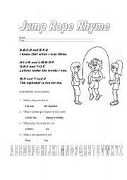 English Worksheets: jump rope rhyme