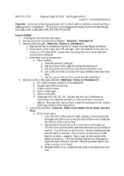 English Worksheet: Following Directions Lesson Plan