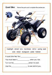 English worksheet: Quad Bike