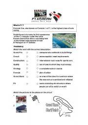 English Worksheet: F1 Korea