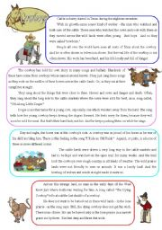 English Worksheet: Cowboys - reading