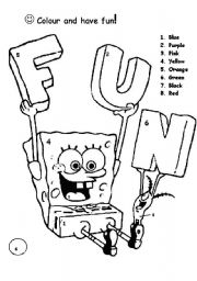 Bob sponge colouring page
