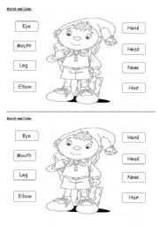 image about Printable Activities for Kids With Adhd called Physique components - ESL worksheet as a result of nurreyes