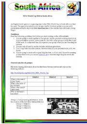 English Worksheet: WebQuest South Africa